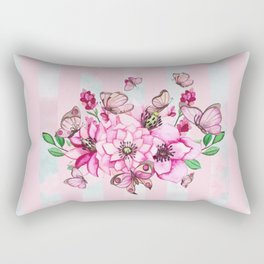 Pretty Pink Flutterbies Rectangular Pillow