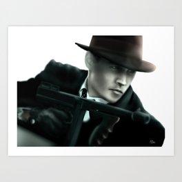 Johnny Depp// John Dillinger Art Print