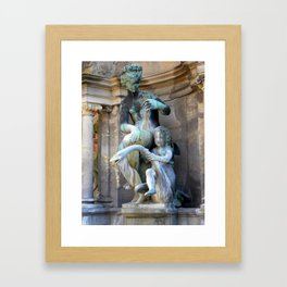 Mother, Child and Swan- outside Frederiksborg Palace  Framed Art Print