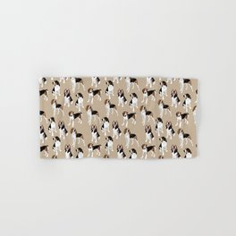 Treeing Walker Coonhounds on Tan Hand & Bath Towel