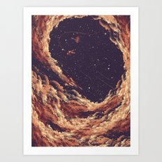 Cosmic Smoke Art Print