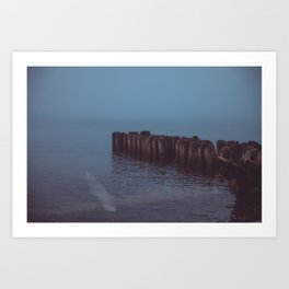 Where the Water Ends-3 Art Print