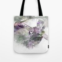 clint barton Tote Bags featuring Clint Barton  by NKlein Design