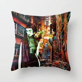 Hungry Ghost Throw Pillow