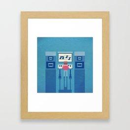 The electronic musician Framed Art Print