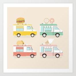 Food Trucks Art Print