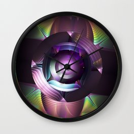 Believe in magic, mixed media abstract Wall Clock
