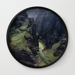 Hawaii Heavenly Aerial View Wall Clock