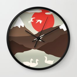 Swan Migration Wall Clock