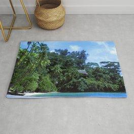 South Pacific Paradise Romantic Tropical Beach Rug