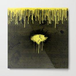 Yellow Drips Metal Print