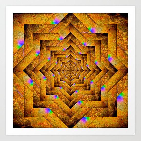 Golden Mandala Art Print