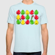 It's All Fun and Games, Until... Mens Fitted Tee SMALL Light Blue