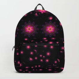 Abstract purple flower 08 Backpack