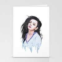 charli xcx Stationery Cards featuring Charli XCX Slime by firemylions