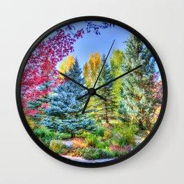 Colorado Forest Wall Clock