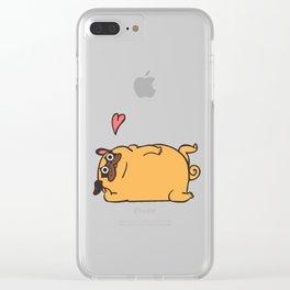 Rub My Belly Pug Clear iPhone Case