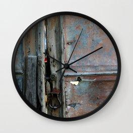 Rusty metal gate Wall Clock