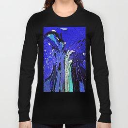 TREE ABSTRACT BLUE COBALT Long Sleeve T-shirt
