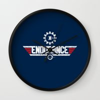 top gun Wall Clocks featuring Endurance Top Gun by Sébi's Ghosts