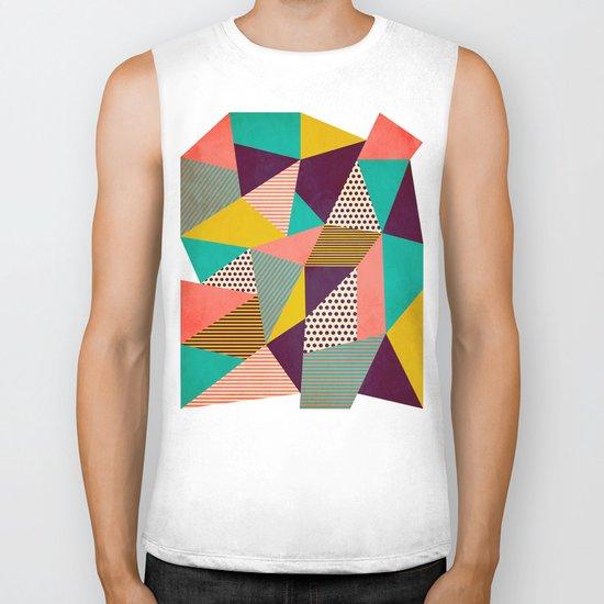 Geometric Love II Biker Tank