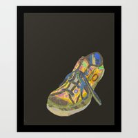 sneaker Art Prints featuring Sneaker Slob by red road