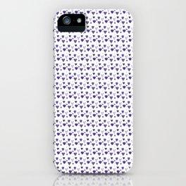Purple Heart Pattern iPhone Case