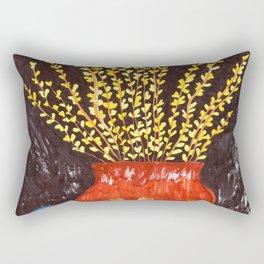 Forsythia in Amber Glass Rectangular Pillow