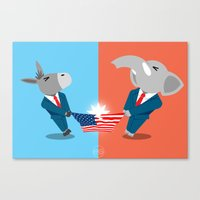 politics Canvas Prints featuring Politics! by Evan Gaskin