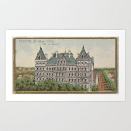 Capitol of New York in Albany, from the General Government and State Capitol Buildings series (N14) Art Print