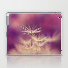 dandelion pink yellow Laptop & iPad Skin