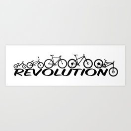 Evolution of a Bicycle Art Print