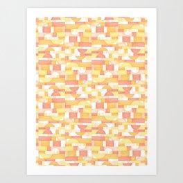 Orangeometries #society6 #pattern Art Print