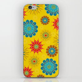 Psycho Flower Gold iPhone Skin
