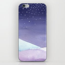 Snowy Landscape Abstract iPhone Skin