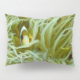 Spaghetti anemone and clownfish Pillow Sham