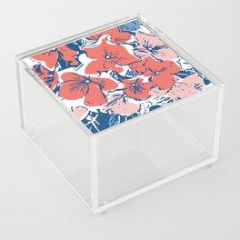 Retro Hydrangea Acrylic Box