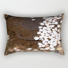 puddle petals Rectangular Pillow