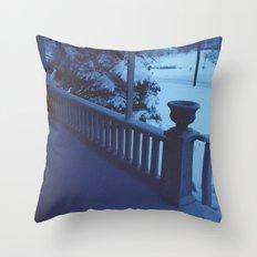 porch snow. Throw Pillow