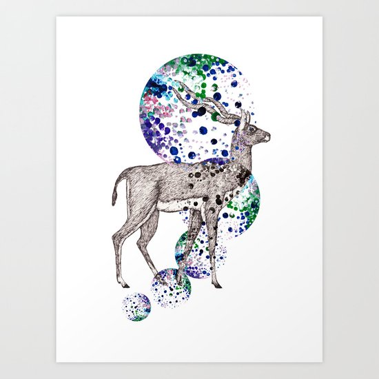 Bubble Antelope Art Print
