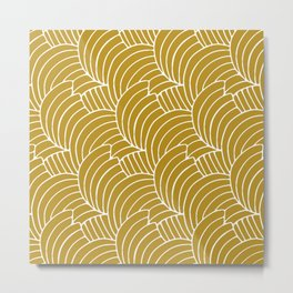 """Koloman (Kolo) Moser """"Textile pattern (Bogen)"""" (3) Metal Print"""