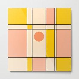 Abstraction_NEW_BAUHAUS_POP_ART_Minimalism_001A Metal Print