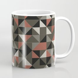 5-color geometric (feathered grey palette) Coffee Mug