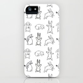 Bunnies pattern iPhone Case
