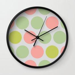 Ms Citrus Polka Dots Wall Clock