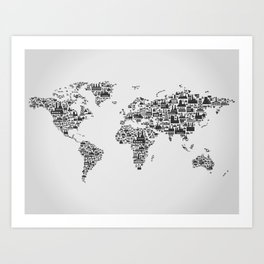Transport map Art Print