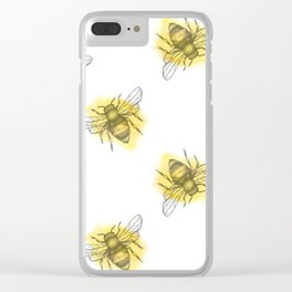 i'd like to be a busy little bee Clear iPhone Case