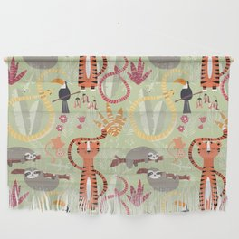 Rain forest animals 004 Wall Hanging