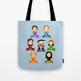 Henry VIII and 6 Wives  Tote Bag