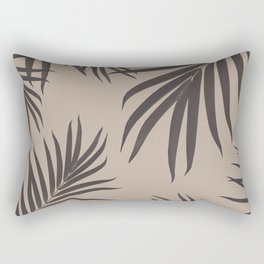 Palm Leaves Pattern Sepia Vibes #1 #tropical #decor #art #society6 Rectangular Pillow